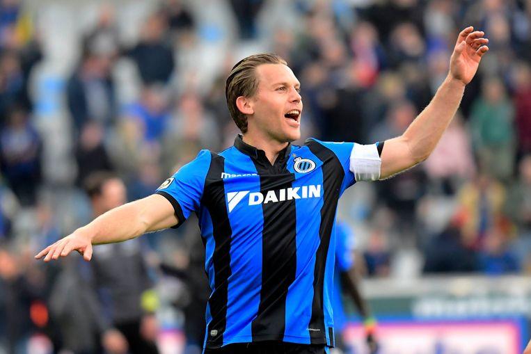 Ruud Vormer viert na de nipte zege tegen Anderlecht.