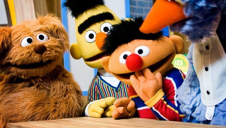 Tommie, Bert, Ernie en Pino van Sesamstraat. Beeld anp