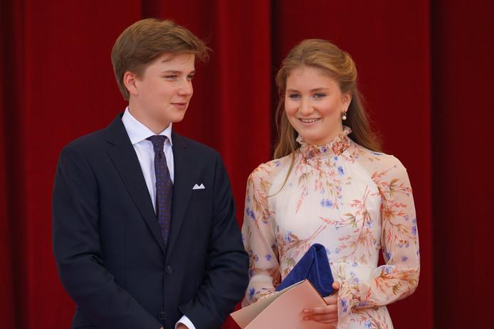 La princesse Elisabeth et son frère le prince Gabriël.