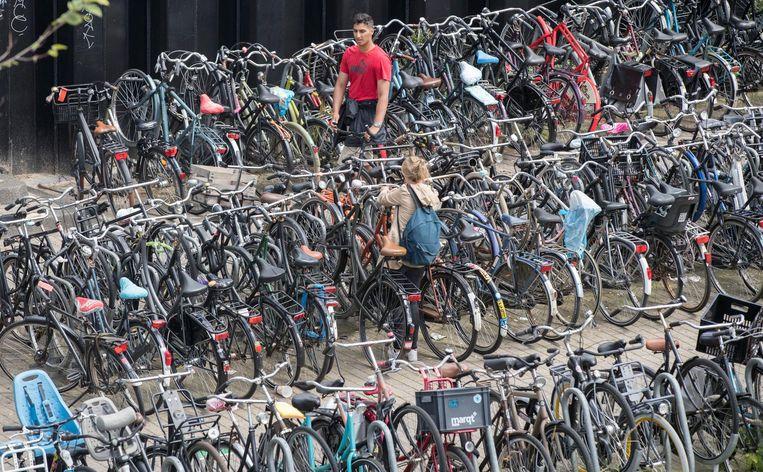 Een volle fietsenstalling bij CS. Beeld anp