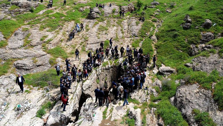 22 april. Armeniërs rond de Dudankloof bij de Turkse stad Diyarbakir. Beeld null