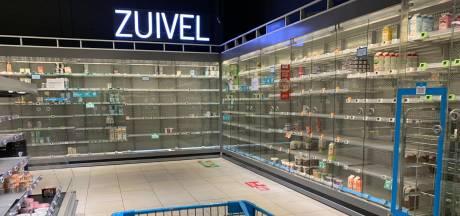 Ook zuivelschappen leeg bij sommige Albert Heijn-winkels, maar schoonmaak distributiecentrum is afgerond