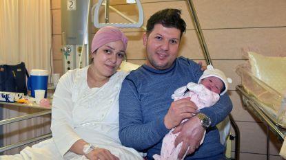 Twee nieuwjaarsbaby's op precies hetzelfde moment geboren in Jette