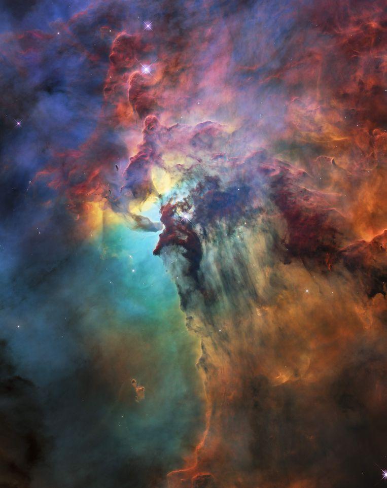 De Lagoonnevel ligt 4.000 lichtjaren van onze planeet.