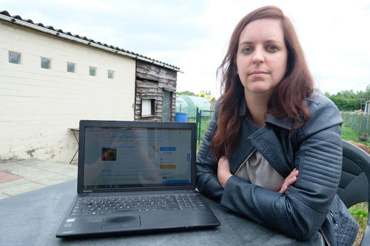 Nathalie Vanhoutte houdt een inzamelactie via internet.