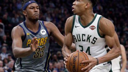 Milwaukee Bucks blijft aan de leiding na zege tegen Indiana