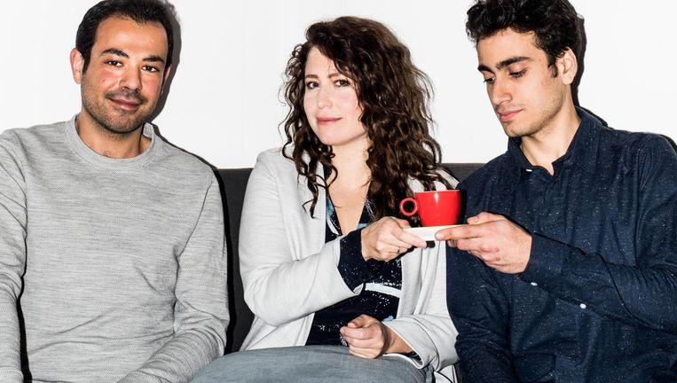 Amir Namou, Sanne Vogel en Muayad Hilamia maken samen de voorstelling Nieuwe Familie Beeld Jan Mulders