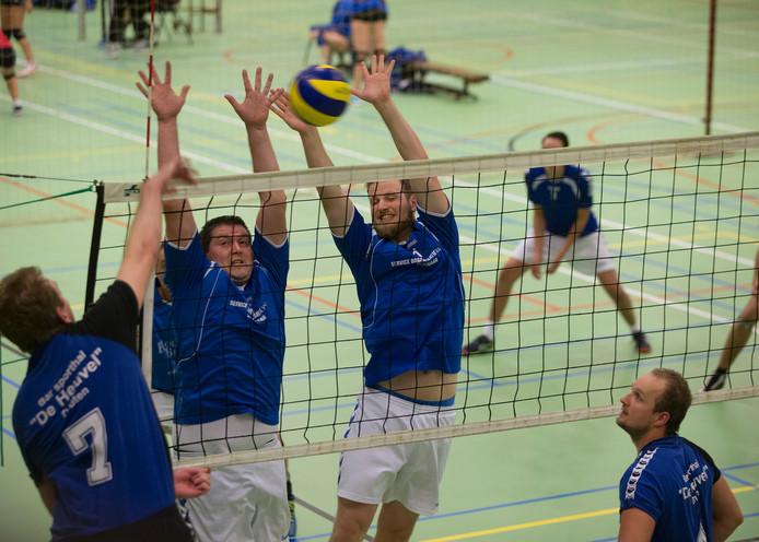 De volleyballers van Wevoc wonnen van ArVeVo. Archieffoto