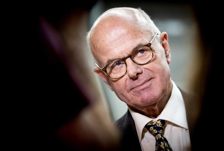 Hans Borstlap donderdagmiddag tijdens de presentatie van het advies van de commissie-Borstlap.  Beeld ANP - Koen van Weel