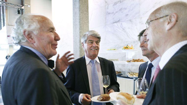 Oud-bestuursvoorzitter René van der Bruggen (midden) in 2013 tijdens de aandeelhoudersvergadering van Imtech in De Doelen in Rotterdam. Beeld Wiebe Kiestra
