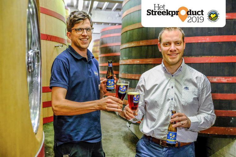 Nicolas Degryse en Frederik Geiregat van brouwerij Omer Vander Ghinste.