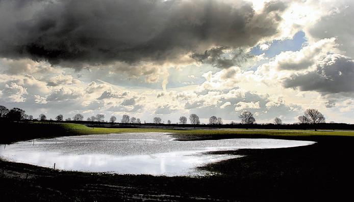 Uiterwaardengebied De Coehoorn bij Nederasselt. Archieffoto