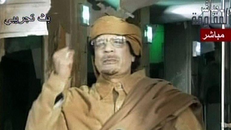 Voormalig dictator Muammar Kaddafi Beeld afp