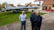 F-16 geland in tuin For Freedom Museum