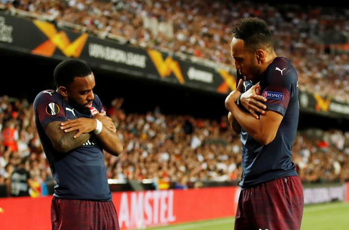 Pierre-Emerick Aubameyang en Alexandre Lacazette strijden met Arsenal op meerdere fronten voor een Champions League-ticket.