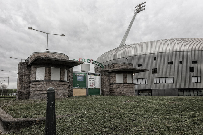De iconische kassahuisjes uit het Zuiderpark staan een beetje verloren op het 'Haags Kwartiertje' bij het ADO stadion, pardon, Car Jeans Stadion in Leidschenveen.