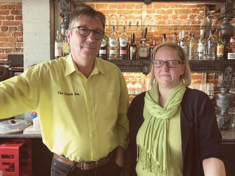 Café-uitbaters Willem Moeyersoons en Fabienne Van de Velde.