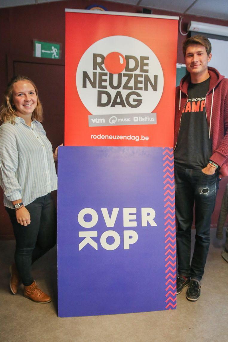 Mieke en Steven trekken rond langs Vlaamse scholen om andere jongeren een hart onder de riem te steken.