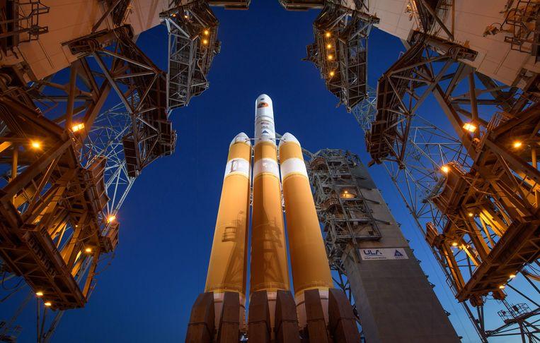 NASA lanceert de Parker Solar Probe. Beeld null