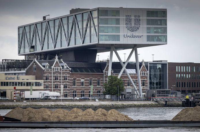 Exterieur van het hoofdkantoor van Unilever in Rotterdam, Nederland. De proef met de vierdaagse werkweek wordt vooralsnog alleen in Nieuw-Zeeland gedaan.
