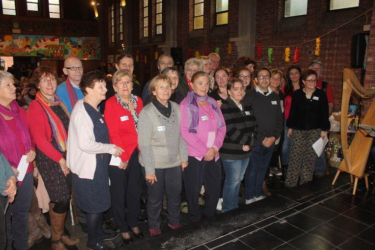 De vrijwilligers van de Vierdewereldgroep.