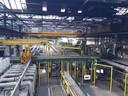 Een blik in een van de fabriekshallen van LDM in Drunen