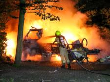Geparkeerde camper gaat in vlammen op