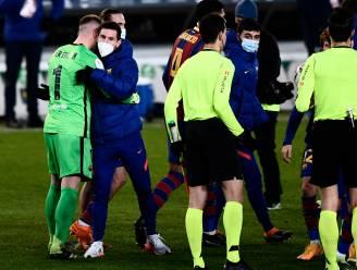 """Barcelona houdt situatie Messi in de gaten: """"Hij heeft een lichte spierblessure, hopelijk is hij er zondag weer bij"""""""