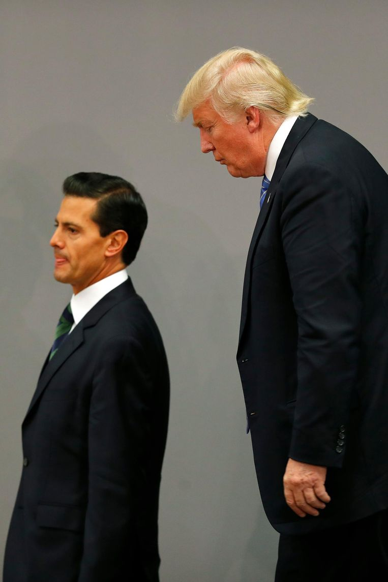 Enrique Peña Nieto en Donald Trump in Mexico. Beeld ap