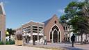 De voormalige Pniëlkerk ligt aan de looproute van de Hoofdstraat via het stadsstrand naar het cultuurplein van Veenendaal.