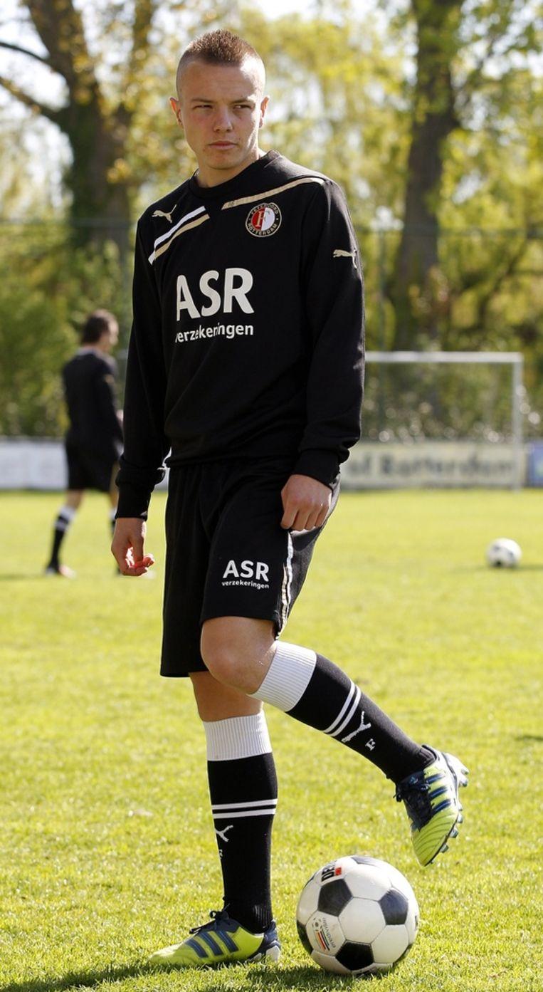 Jordy Clasie, de 'grote kleine man' van Feyenoord en Speler van de Week, 'the day after' op Varkenoord. Beeld anp