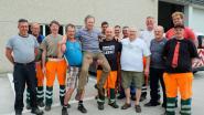 Gemeentearbeiders zwaaien Freddy Verschueren na 35 jaar uit