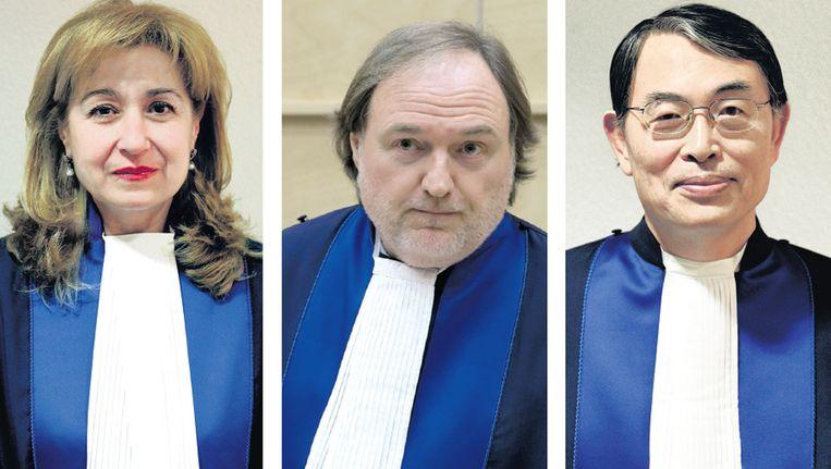 Rechters van het Internationale Strafhof. Beeld ANP/AP