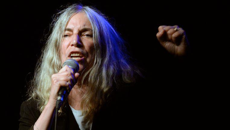 Patti Smith, eind vorig jaar op het podium in Zwitserland.