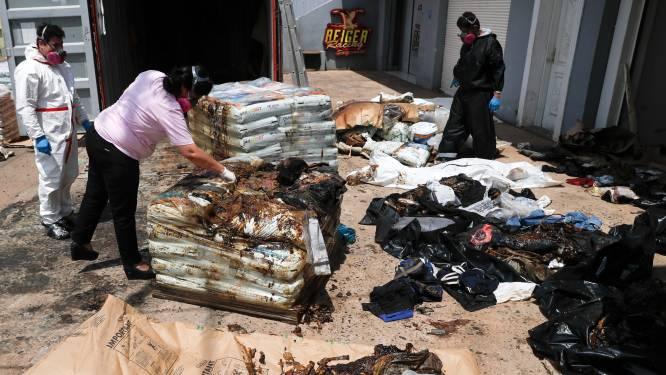 Lichamen van zeven verstekelingen aangetroffen in container na reis van drie maanden