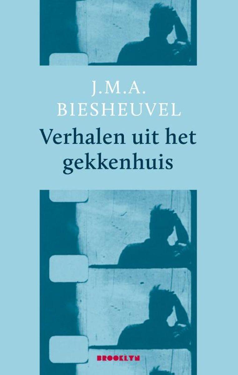 Het boek van Maarten Biesheuvel: Verhalen uit het gekkenhuis.  Brooklyn €19,90.  Beeld rv