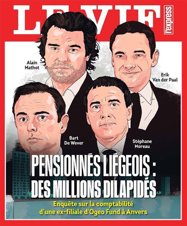 """La une du Vif """"Pensionnés liégeois: des millions dilapidés"""""""