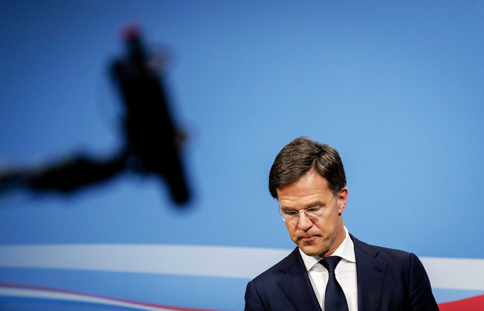 Minister-president Mark Rutte geeft een persconferentie na de ministerraad.
