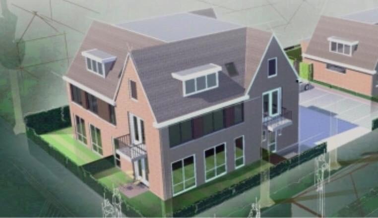Het appartementencomplex dat in Someren-Eind wordt gebouwd.