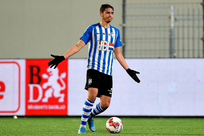 Samy Bourard in actie voor FC Eindhoven