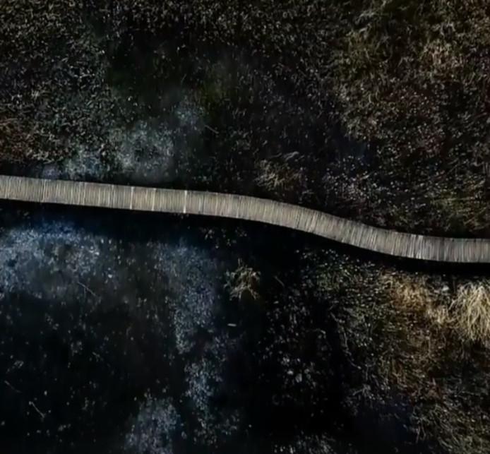 Een beeld uit de drone-video.