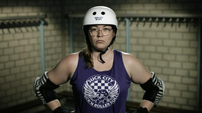 Steffie Storms in haar documentaire 'Becky Bulldozer'.