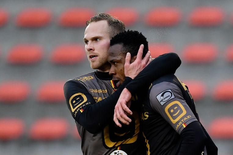 Engvall had een voetje in de 0-2 en bedankt doelpuntenmaker Togui.