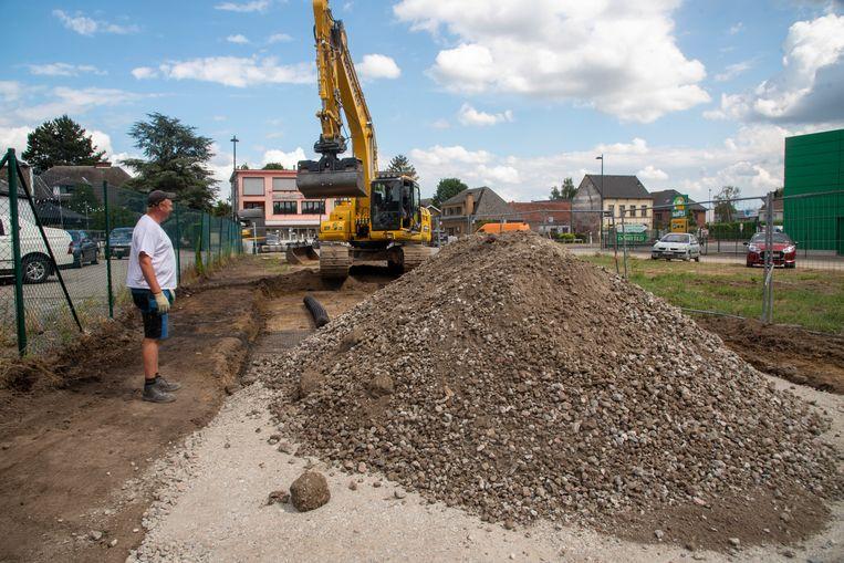 De nieuwe baan richting skatepark wordt momenteel aangelegd.
