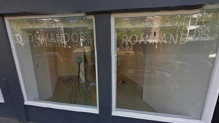 Galerie Ron Mandos aan de Prinsengracht Beeld Google Streetview