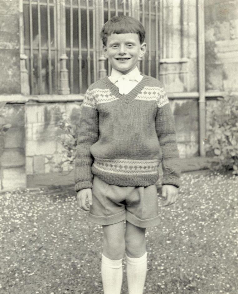 Een jonge De Groot bij zijn eerste communie in 1960. Beeld