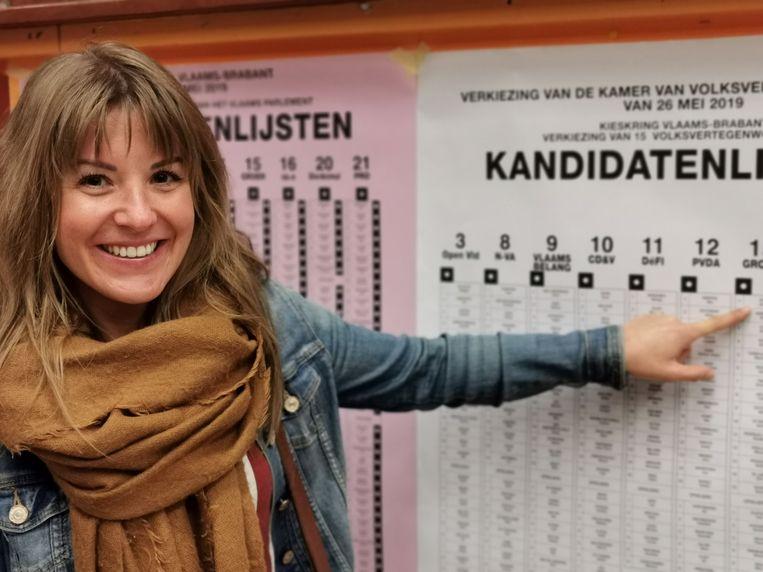Jessika Soors duidt zichzelf aan op de kandidatenlijst voor de verkiezing van de Kamer.