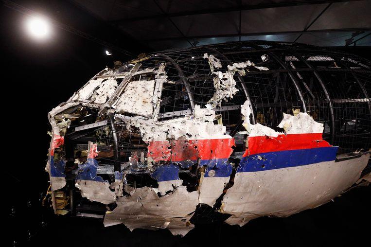 Het wrak van de cockpit van MH17. Beeld getty