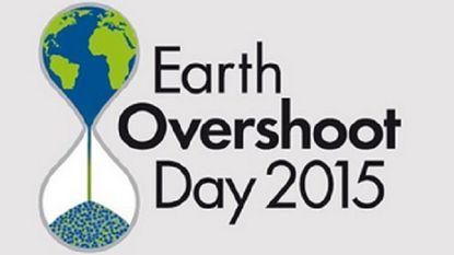 """Earth Overshoot Day: """"Vanaf morgen overschrijden we de draagkracht van de aarde"""""""