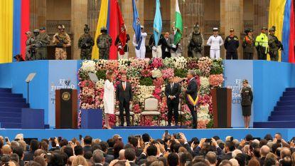 """Rechtse Ivan Duque legt eed af als president Colombia en kondigt meteen """"correcties"""" in FARC-vredesakkoord aan"""